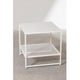 Square Side Table in Steel with Grid (50.8x50.8 cm) Thura, thumbnail image 2