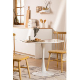 Round Dining Table in MDF and Metal Tuhl Style, thumbnail image 1