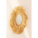 Round Rattan Wall Mirror (Ø80 cm) Donat, thumbnail image 3