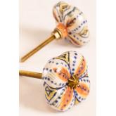 Set of 2 Ceramic Knobs Flowe, thumbnail image 1