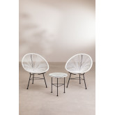 Set 2 Chairs & 1 Table in Polyethylene and Steel New Acapulco, thumbnail image 2