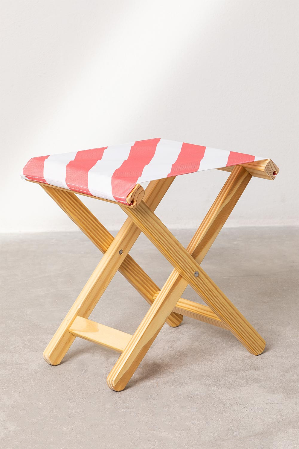 Low Wooden Stool Lyon, gallery image 1