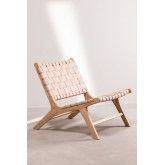 Wood and Leather  Lounge Chair Zaid , thumbnail image 2