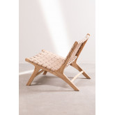 Wood and Leather  Lounge Chair Zaid , thumbnail image 3