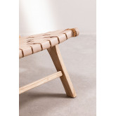 Wood and Leather  Lounge Chair Zaid , thumbnail image 5