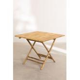 Allen Bamboo Folding Table, thumbnail image 2