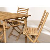 Marilin Bamboo Garden Table and 4 Chairs Set, thumbnail image 3