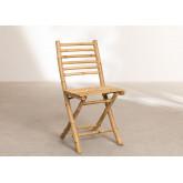 Marilin Bamboo Garden Table and 4 Chairs Set, thumbnail image 5