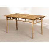 Marilin Bamboo Garden Table and 4 Chairs Set, thumbnail image 6