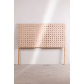 Wood & Leather Headboard for 150 cm Bed Zaid , thumbnail image 3