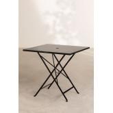Folding Steel Garden Table (77x77 cm) Dreh , thumbnail image 2