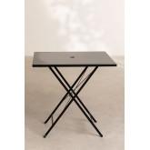Folding Steel Garden Table (77x77 cm) Dreh , thumbnail image 3