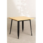Vintage Wooden LIX Table (80x80), thumbnail image 2