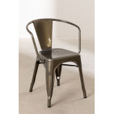 Brushed LIX Chair with Armrests, thumbnail image 2