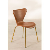 Leatherette Dining Chair Uit, thumbnail image 2