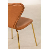 Leatherette Dining Chair Uit, thumbnail image 5