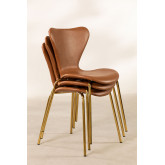 Leatherette Dining Chair Uit, thumbnail image 6