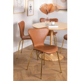 Leatherette Dining Chair Uit, thumbnail image 1