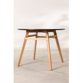 Round Dining Table in MDF and Beech Wood (Ø80 -Ø120 cm) Scand Nordic, thumbnail image 2