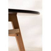 Round Dining Table in MDF and Beech Wood (Ø80 -Ø120 cm) Scand Nordic, thumbnail image 4
