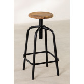Wood & Steel High Stool Ery, thumbnail image 2