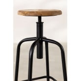Wood & Steel High Stool Ery, thumbnail image 4