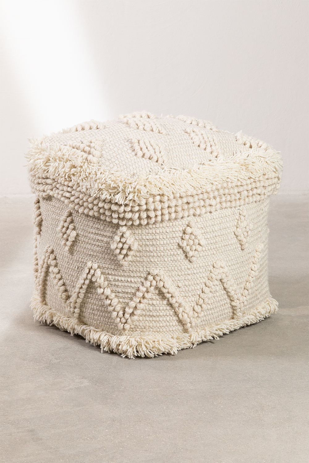 Drutt Wool Square Puff, gallery image 1