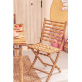 Marilin Bamboo Folding Garden Chair, thumbnail image 1