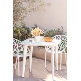 Square Outdoor Polyethylene Table (85x85 cm) Tina, thumbnail image 1