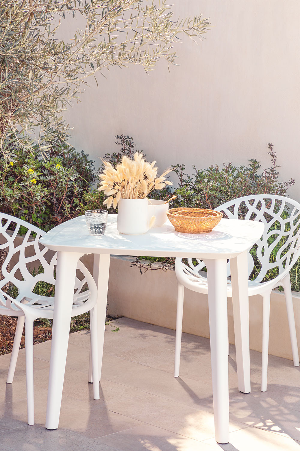 Square Outdoor Polyethylene Table (85x85 cm) Tina, gallery image 1