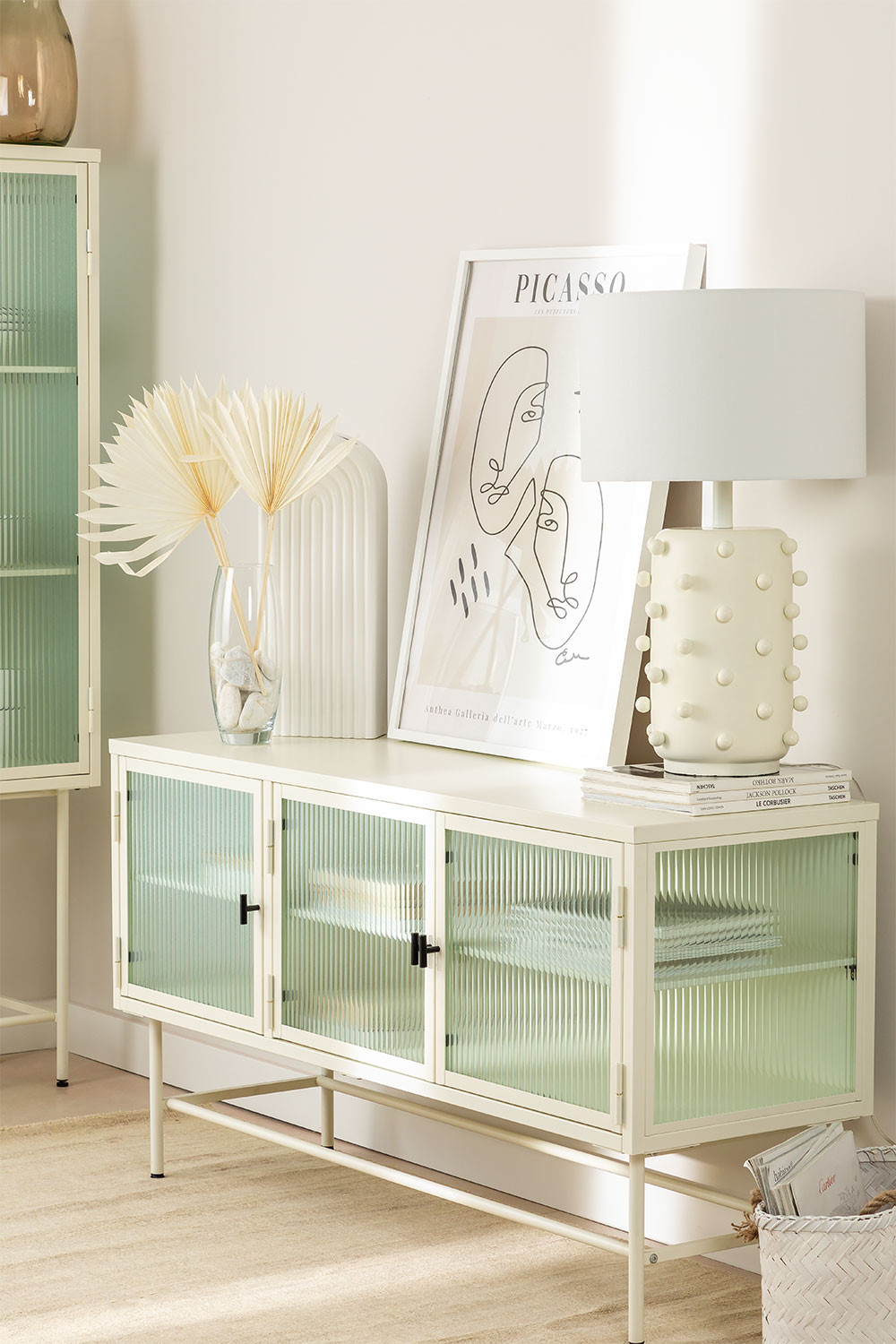 Metal and Glass TV Cabinet Vertal, gallery image 1