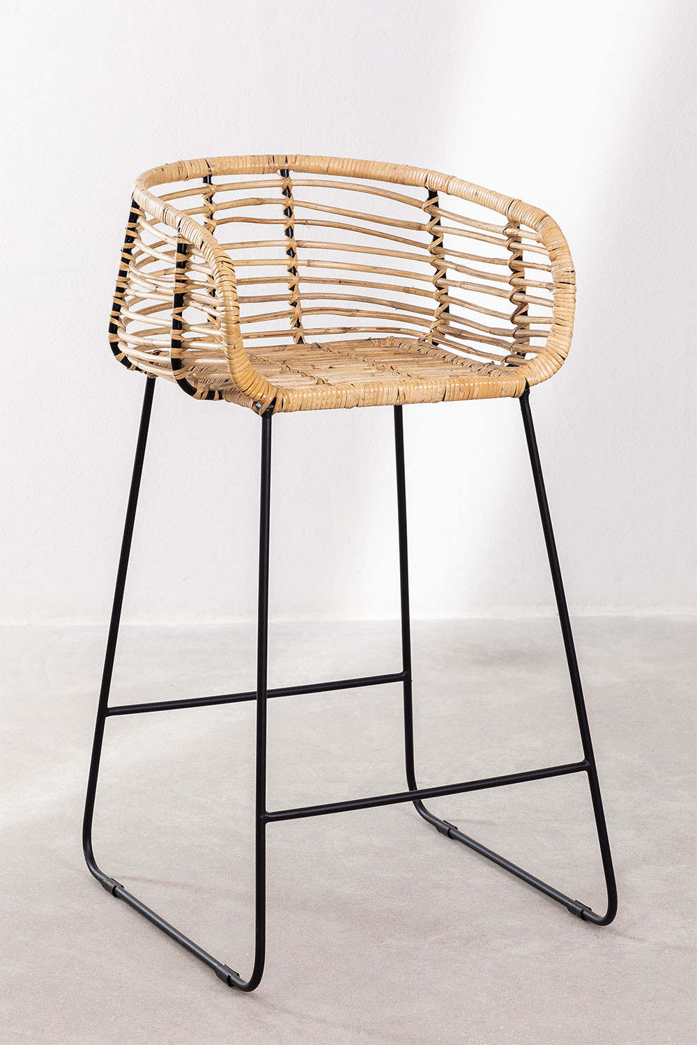 High Stool in Hasse Rattan, gallery image 1