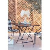 Folding Steel Garden Table (77x77 cm) Dreh , thumbnail image 1