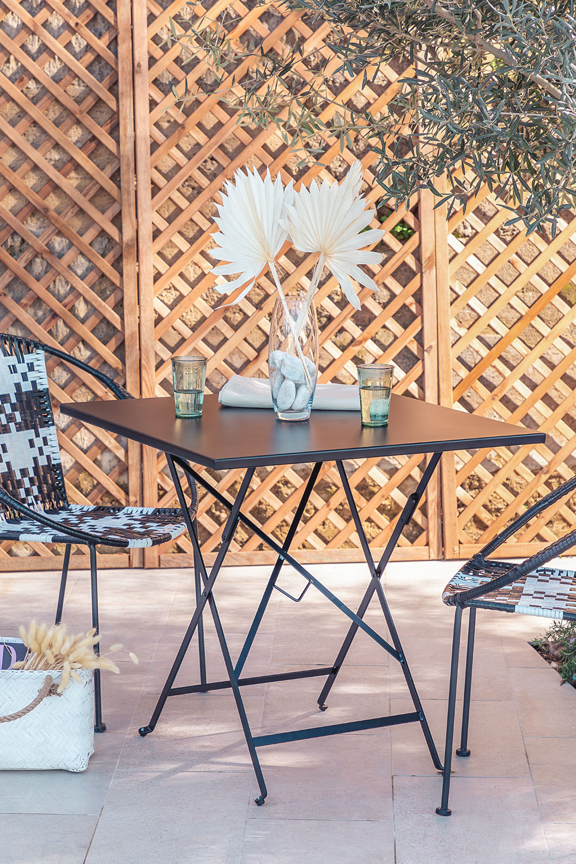 Folding Steel Garden Table (77x77 cm) Dreh , gallery image 1