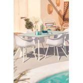 Outdoor Steel & Glass  Table (160x90 cm) Adel, thumbnail image 1