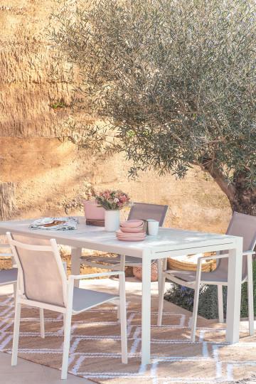 Extendable Rectangular Aluminum Garden Table (180-240x100 cm) Starmi
