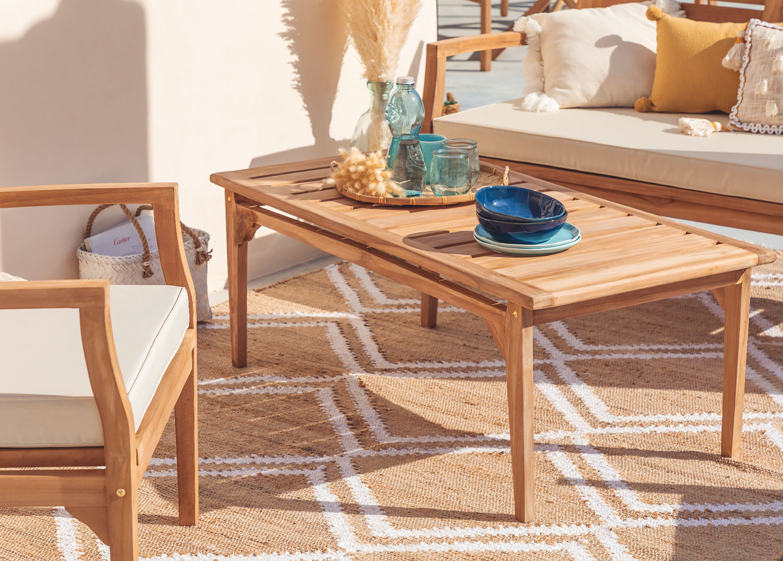 Coffee Table for Garden in Teak Wood Adira , gallery image 1