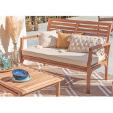 2 Seater Garden Teak Wood Sofa  Adira, thumbnail image 1