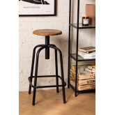 Wood & Steel High Stool Ery, thumbnail image 1