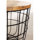 Round Coffee Table in Recycled Wood and Steel (Ø62 cm) Ket, thumbnail image 4