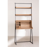 Desk with Shelves in MDF and Metal Valar, thumbnail image 3