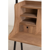 Desk with Shelves in MDF and Metal Valar, thumbnail image 4