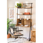 Desk with Shelves in MDF and Metal Valar, thumbnail image 1