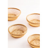 Pack of 4 Decorative Plates in Murwa Bamboo, thumbnail image 1