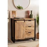 Kiefer Mango Wood Wardrobe, thumbnail image 1