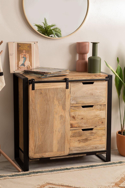 Kiefer Mango Wood Wardrobe, gallery image 1