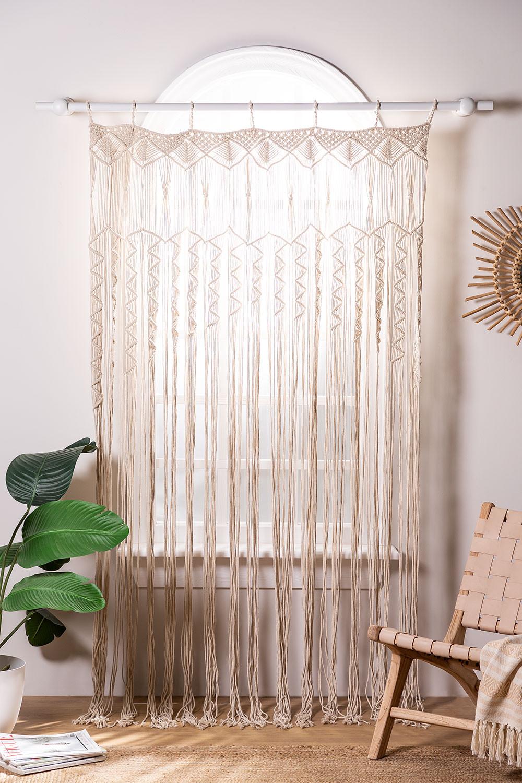 Macramé curtain (215x110 cm) Zulema, gallery image 1