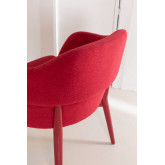 Poles Wood Dining Chair with Armrests, thumbnail image 5