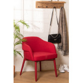 Poles Wood Dining Chair with Armrests, thumbnail image 1