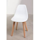 Pack of 2 Scand Scandinavian Dining Chairs, thumbnail image 1
